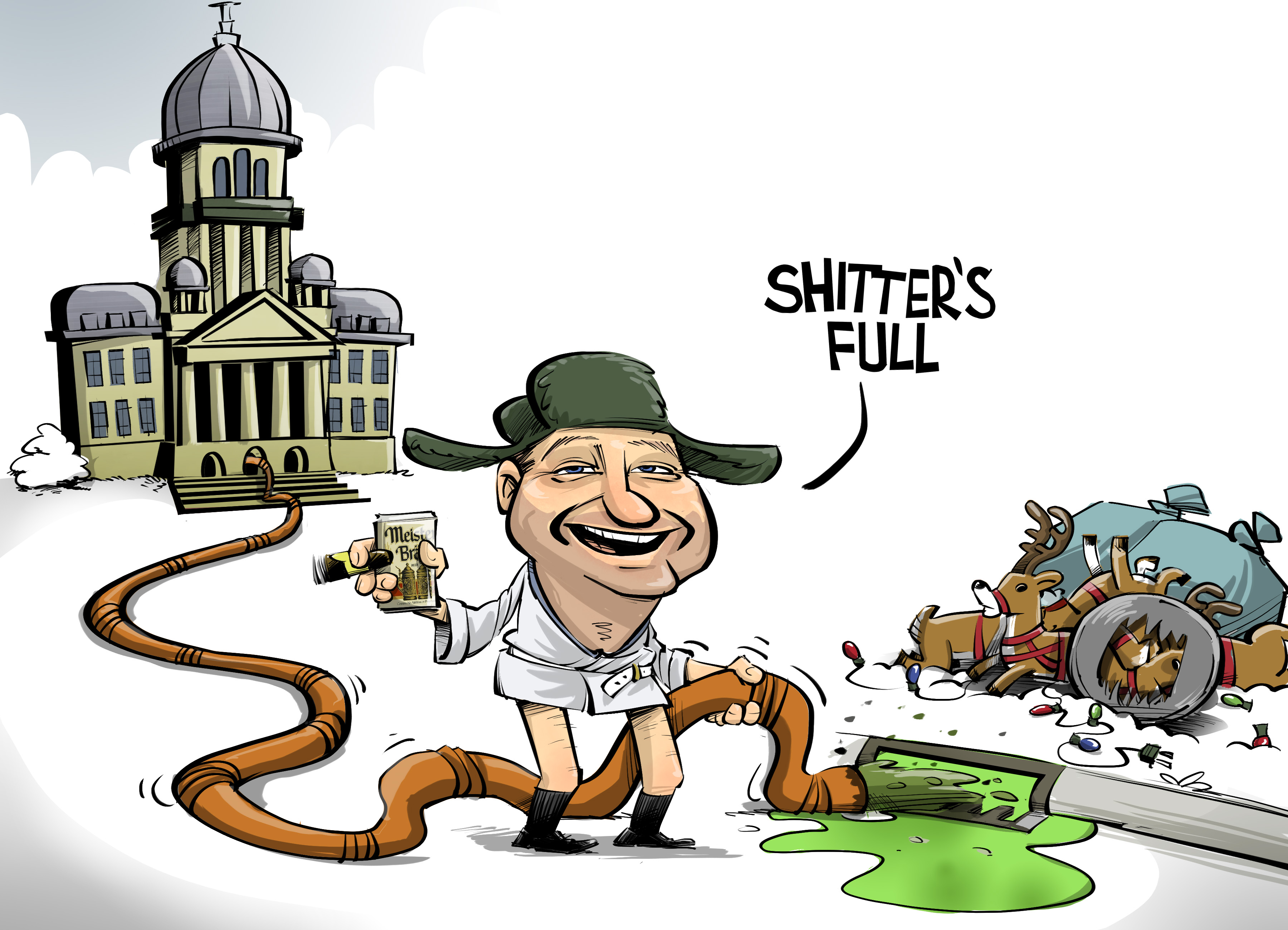 Christmas Vacation Shitter's Full Illinois Politics