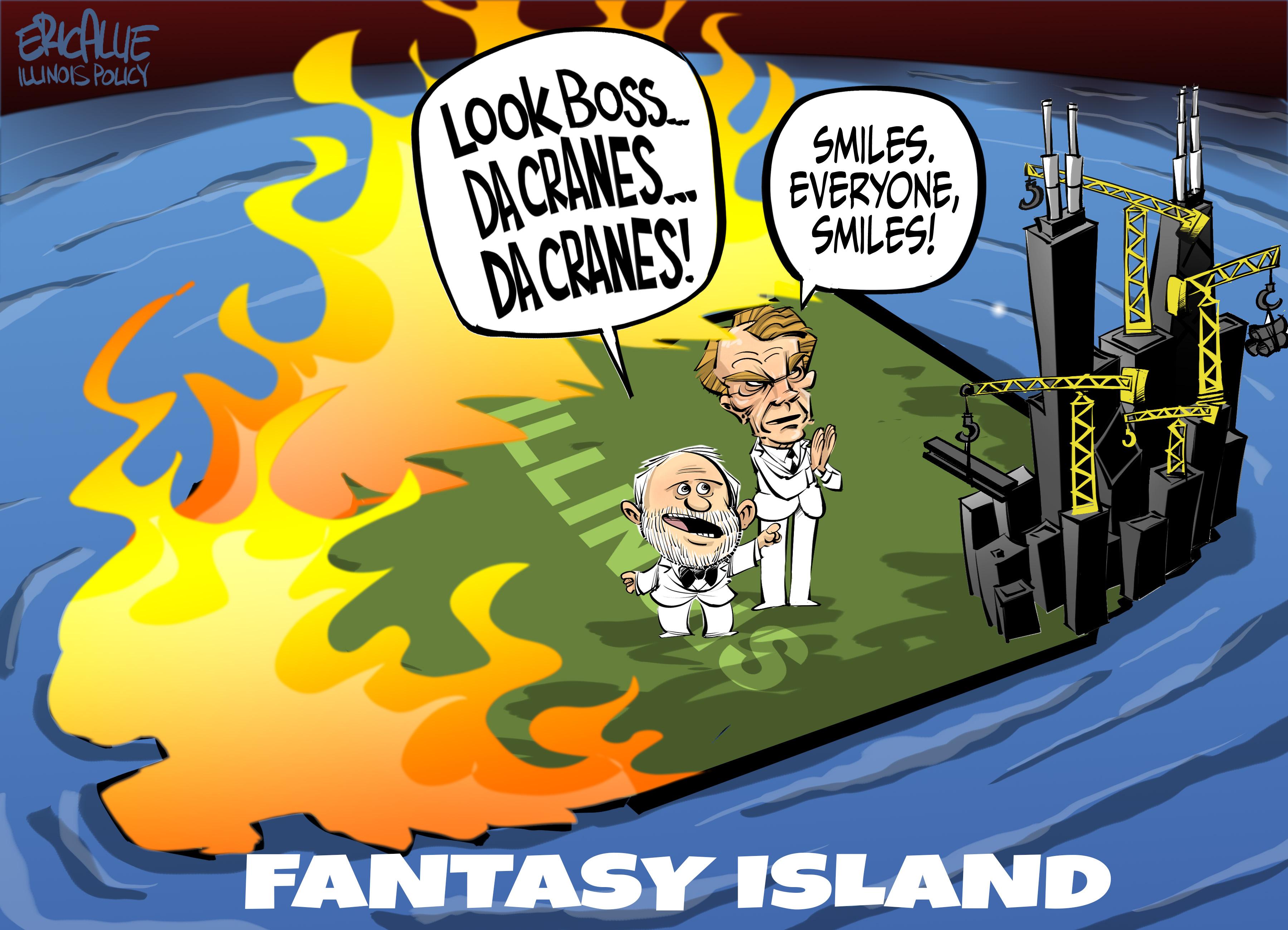 Madigan's Fantasy Island – Eric Allie Cartoon