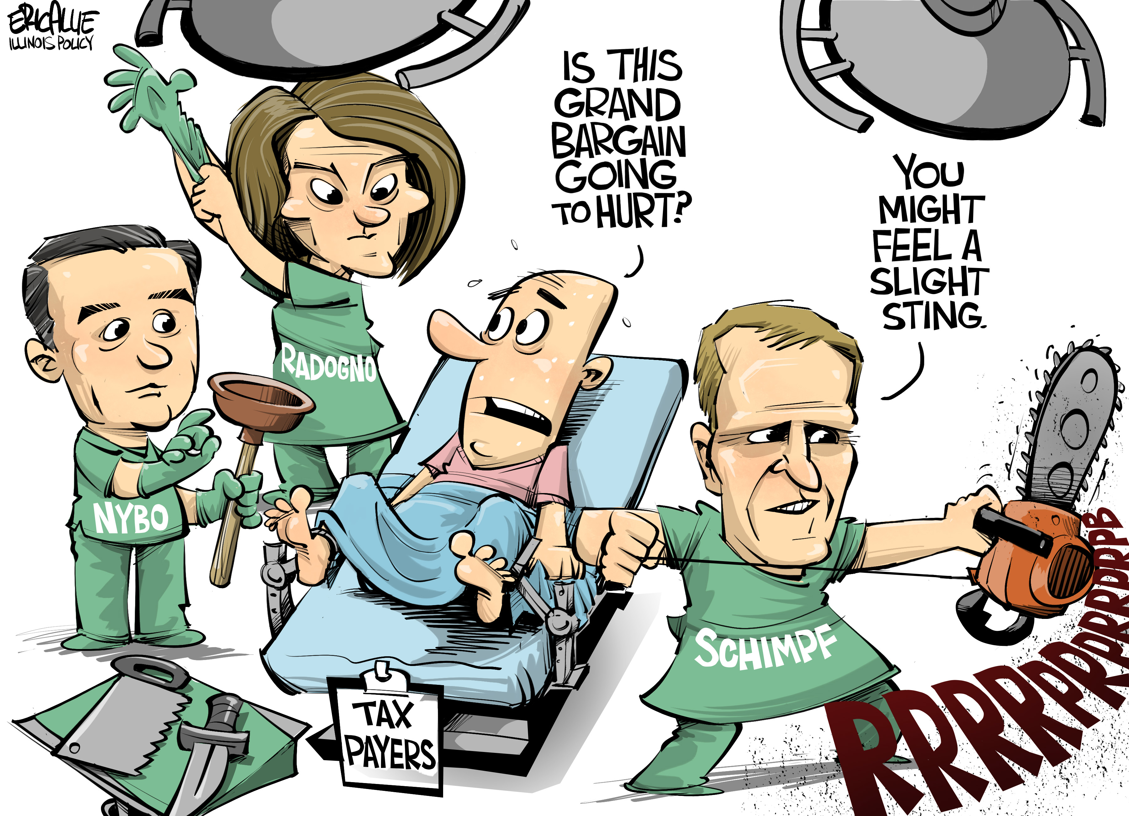 Grand Bargain Time – Eric Allie Cartoon