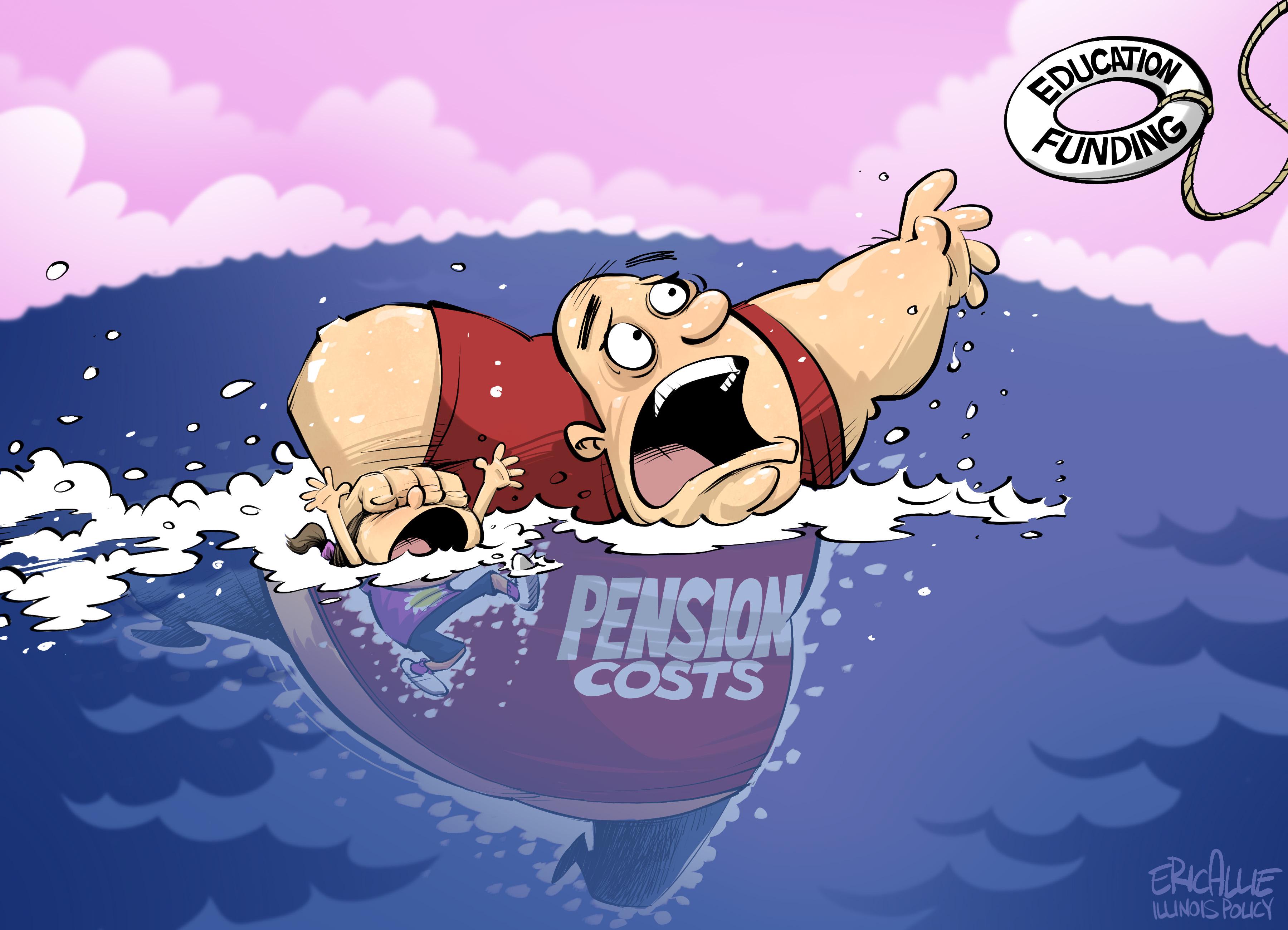 Illinois pension debt – Eric Allie Cartoon