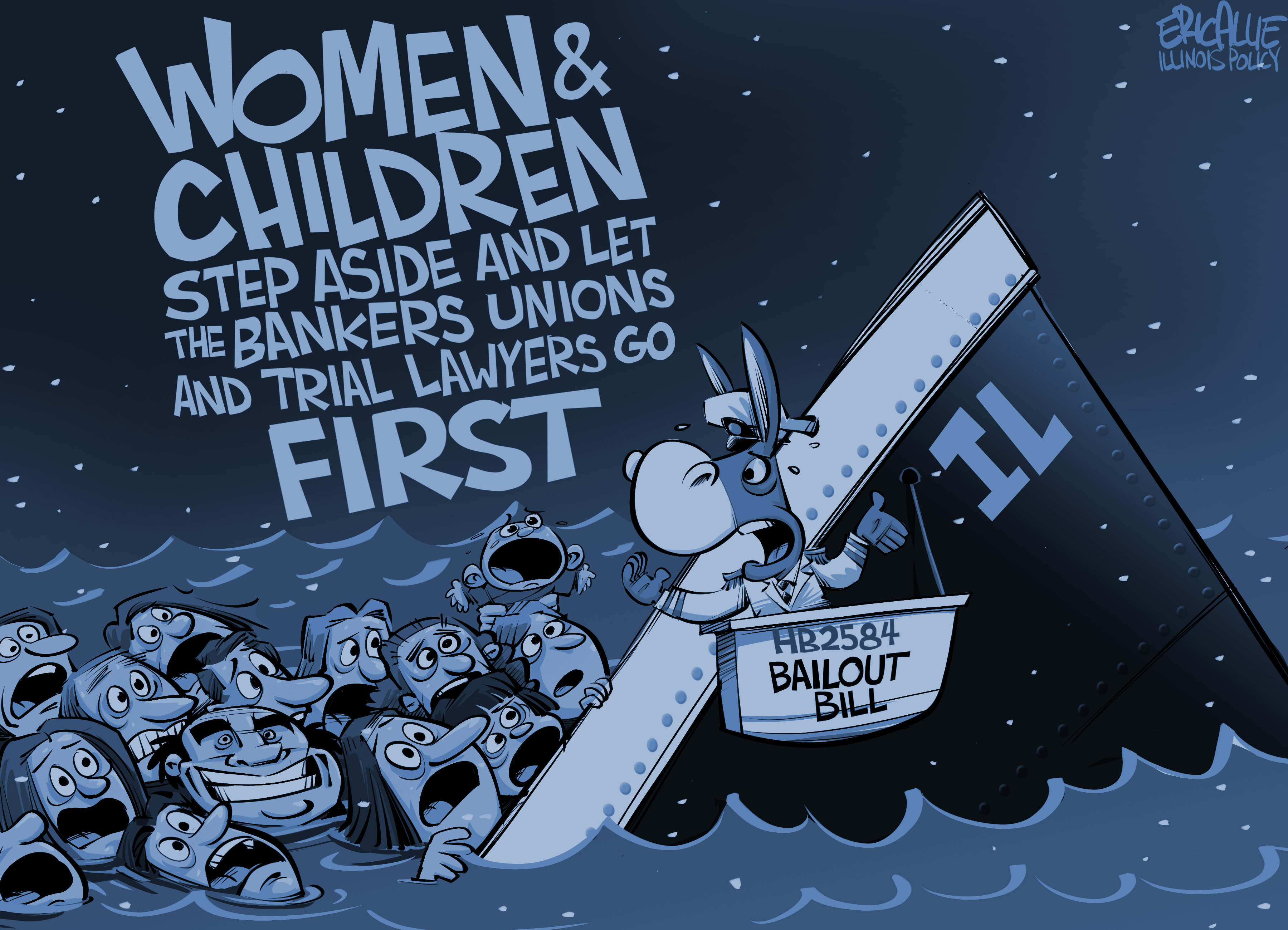 Bank bailout – Eric Allie Cartoon