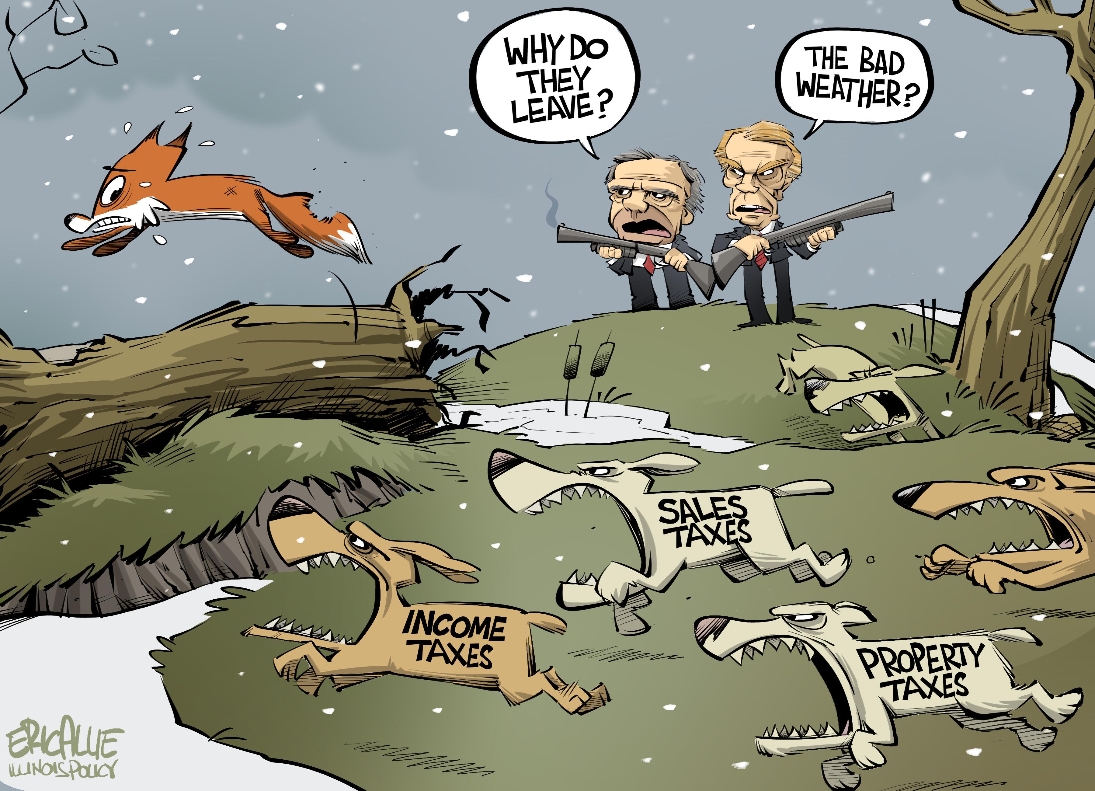 Illinois outmigration – Eric Allie Cartoon