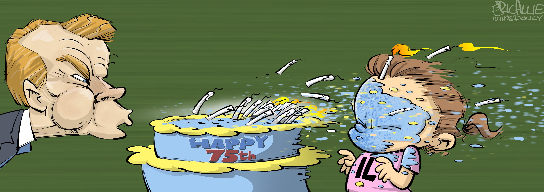 Madigan turns 75 – Eric Allie Cartoon