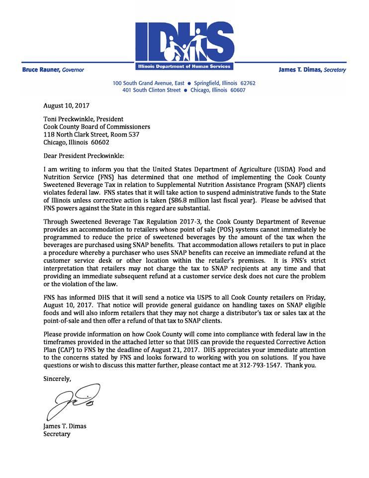 Dimas FNS letter