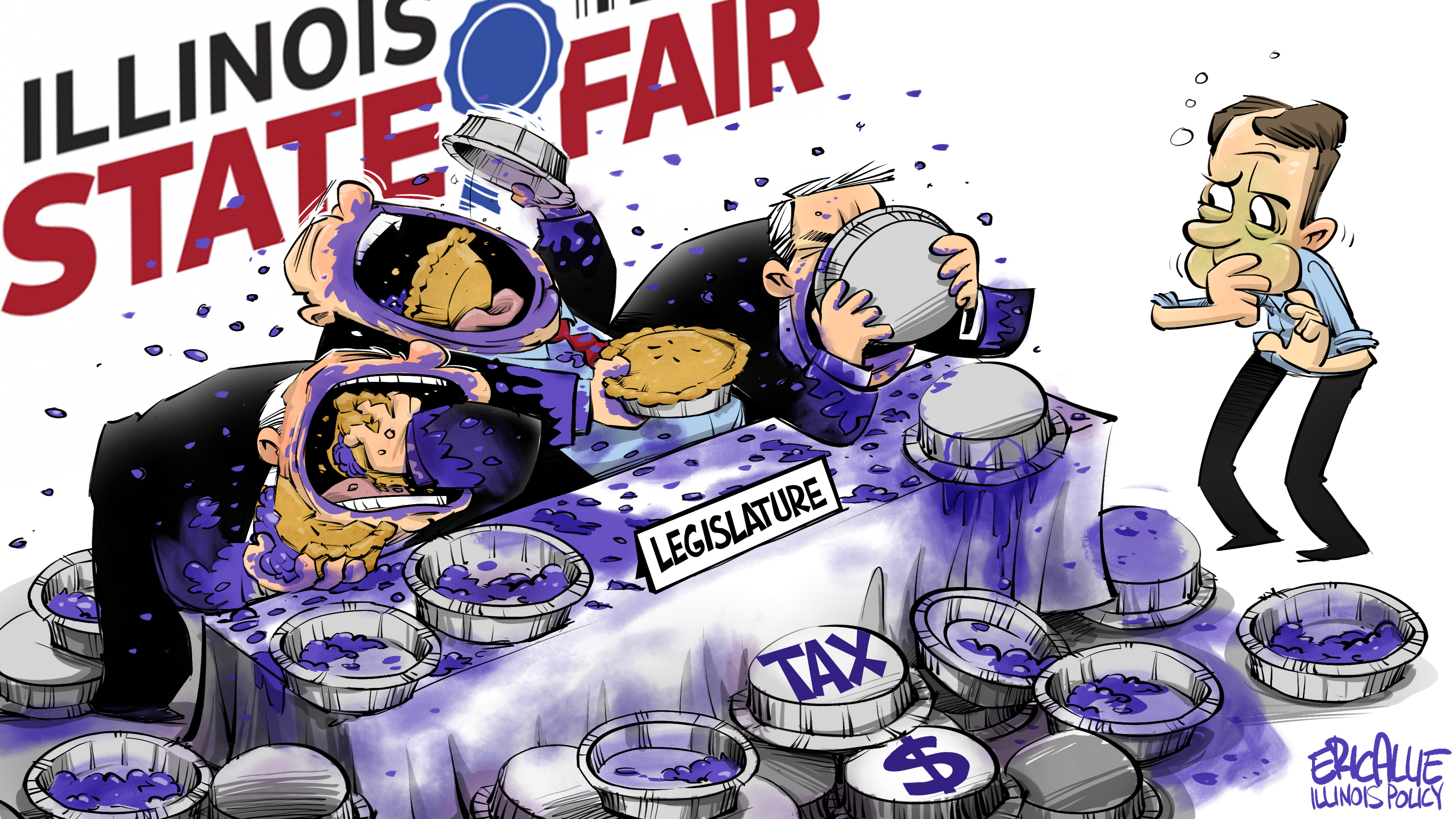 Illinois State Fair: Tax eating contest