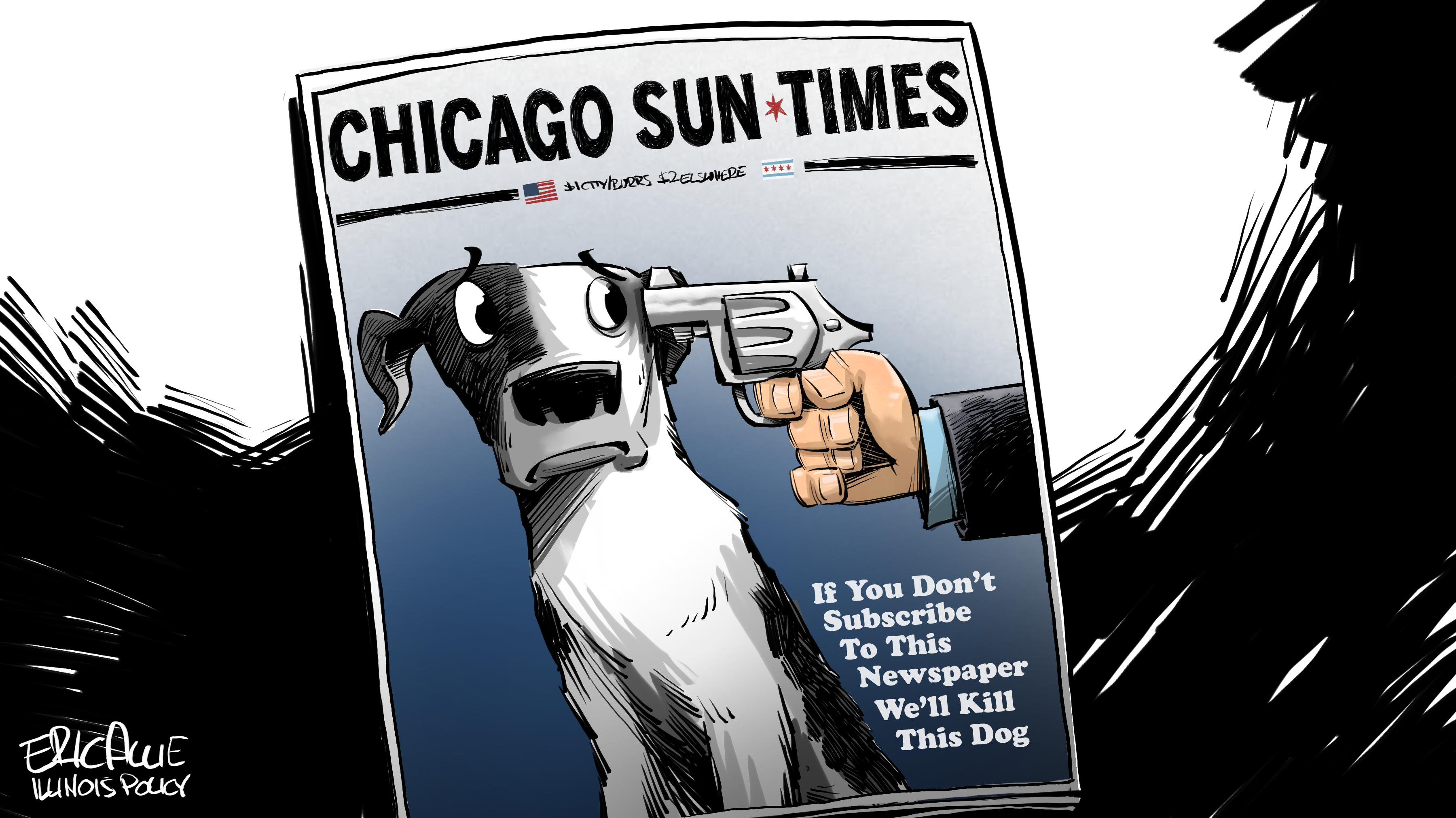 national lampoon cover chicago sun-times if you don't subscribe we'll kill this dog