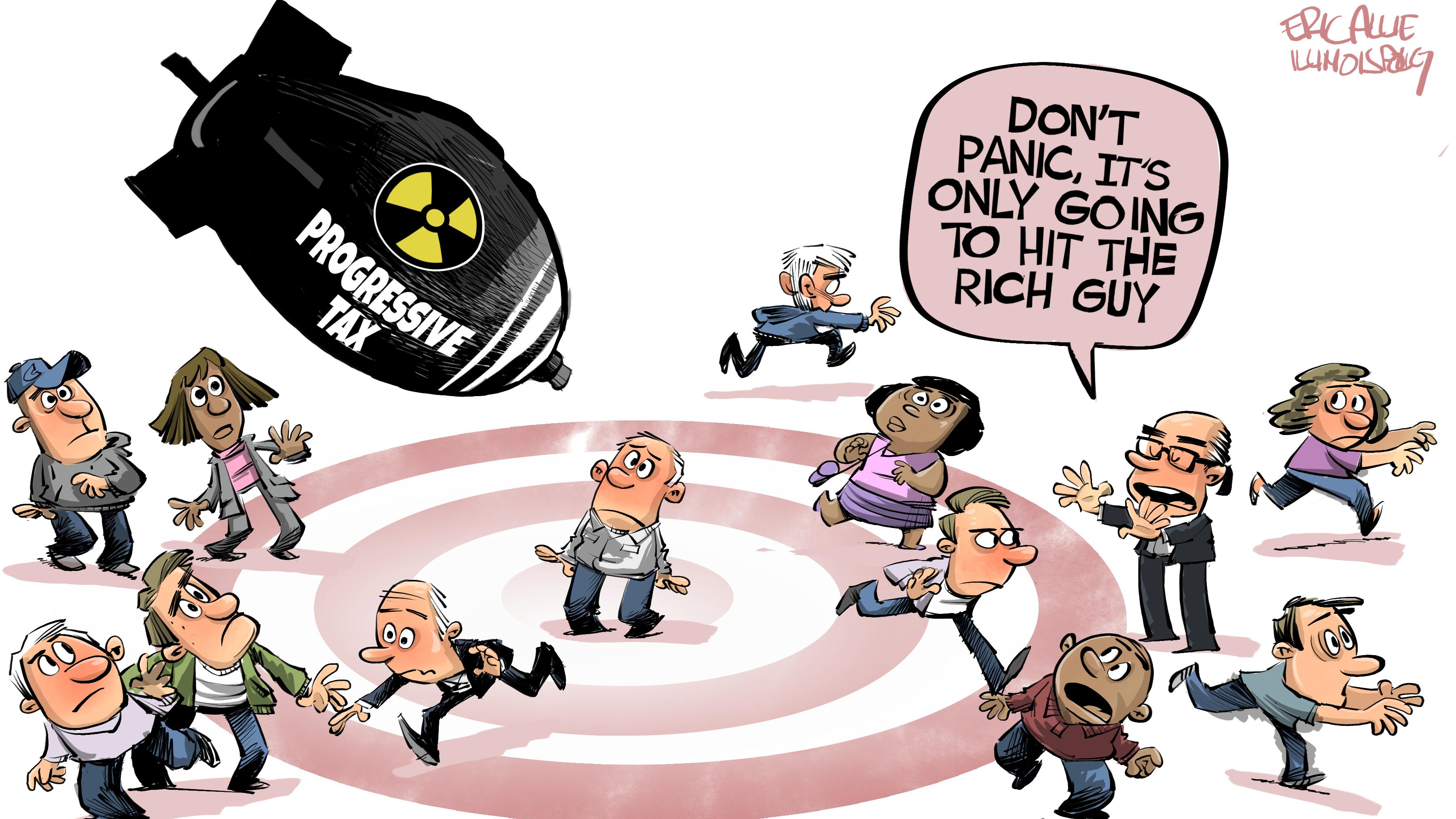 Progressive tax bomb