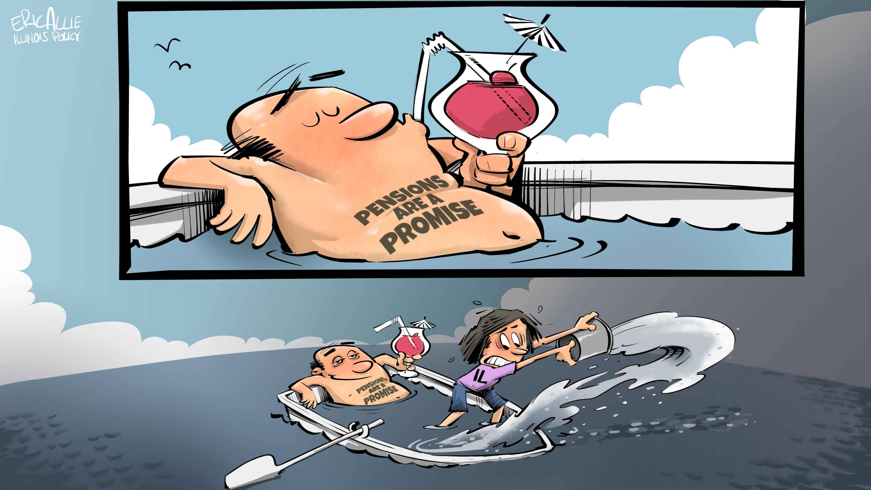 Pension ship bailout.