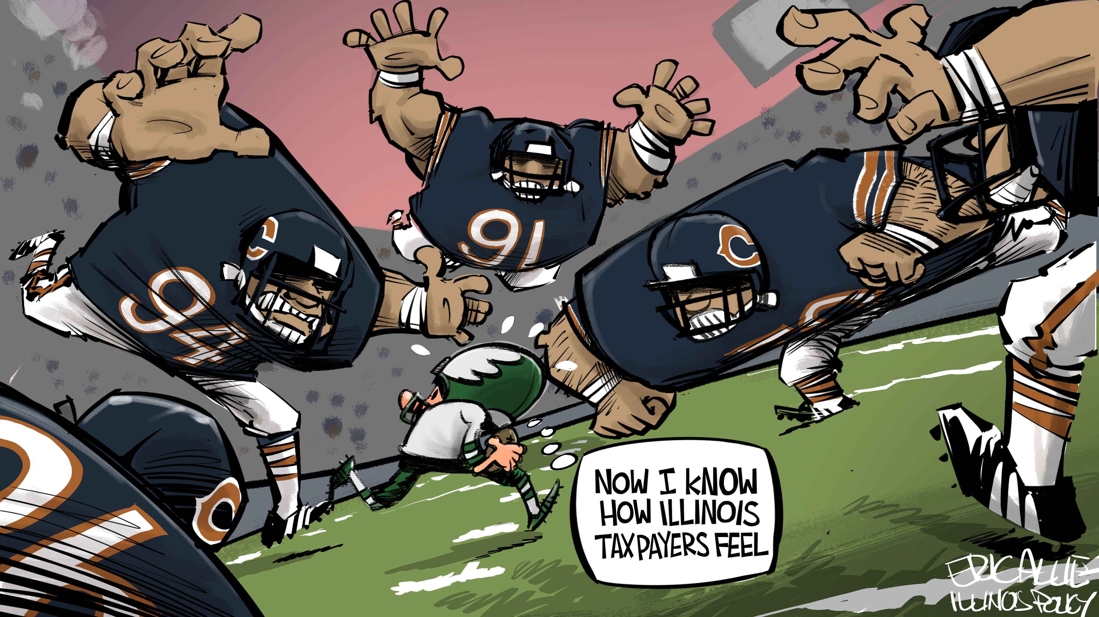 Bears vs.Eagles: tackled