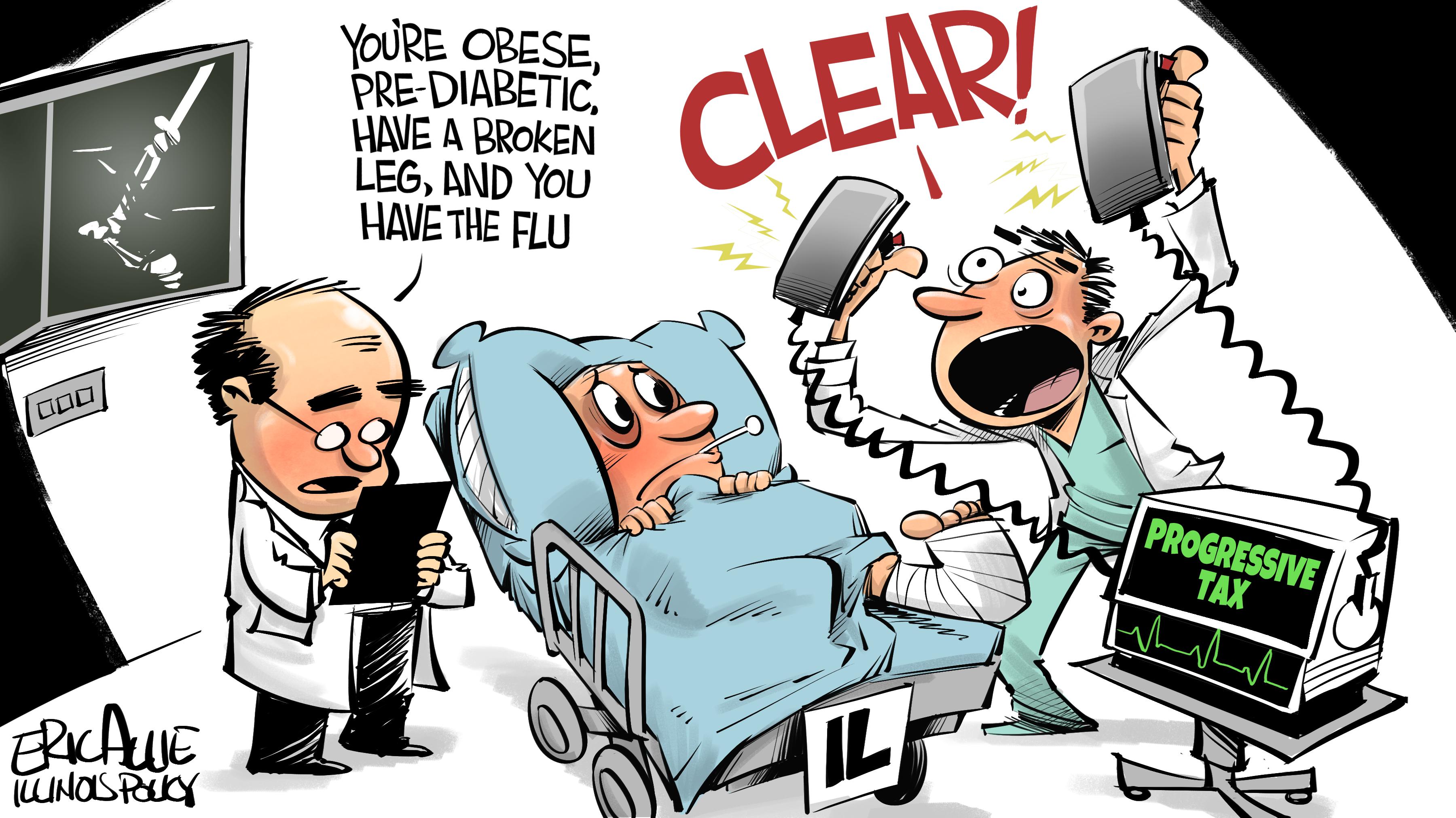 Progressive tax cure