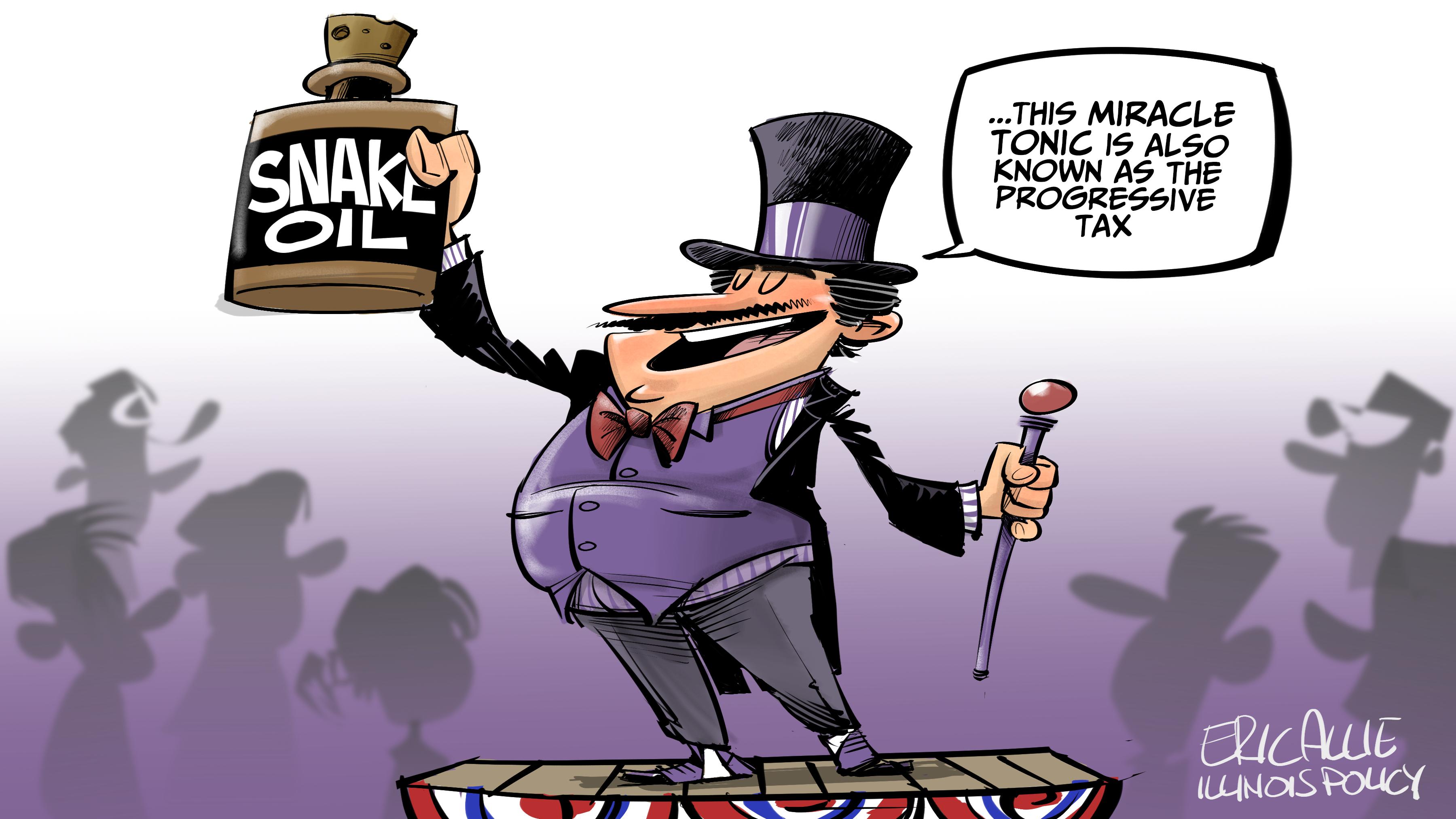 Progressive tax snake oil