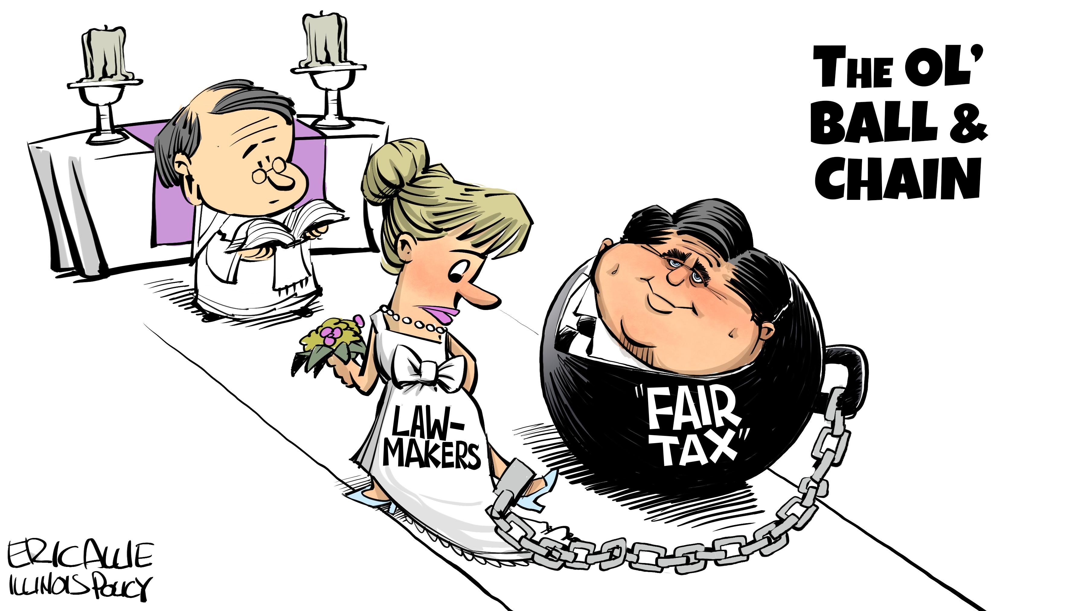 """""""Fair Tax"""" ball and chain"""