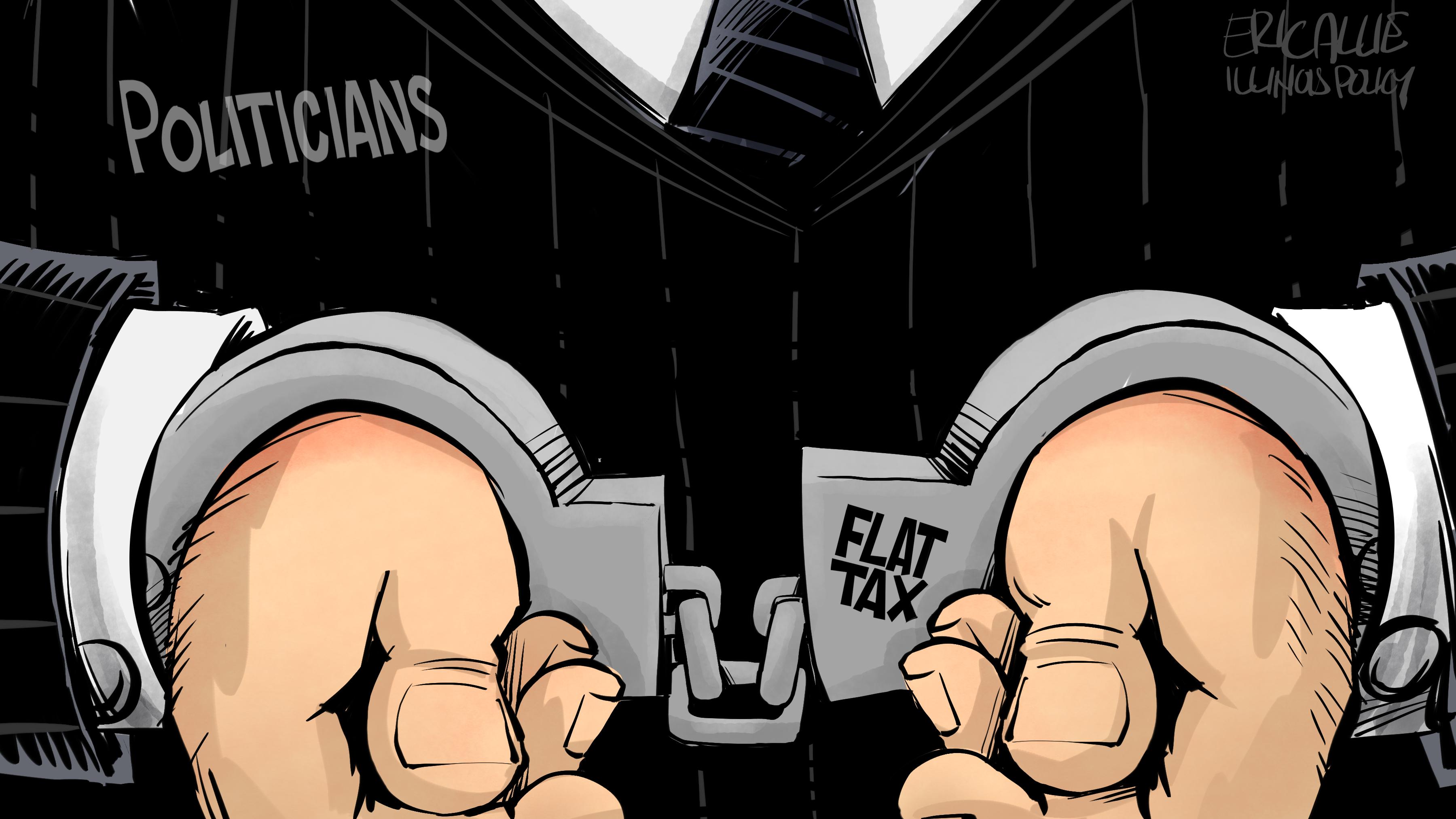 Flat tax handcuffs