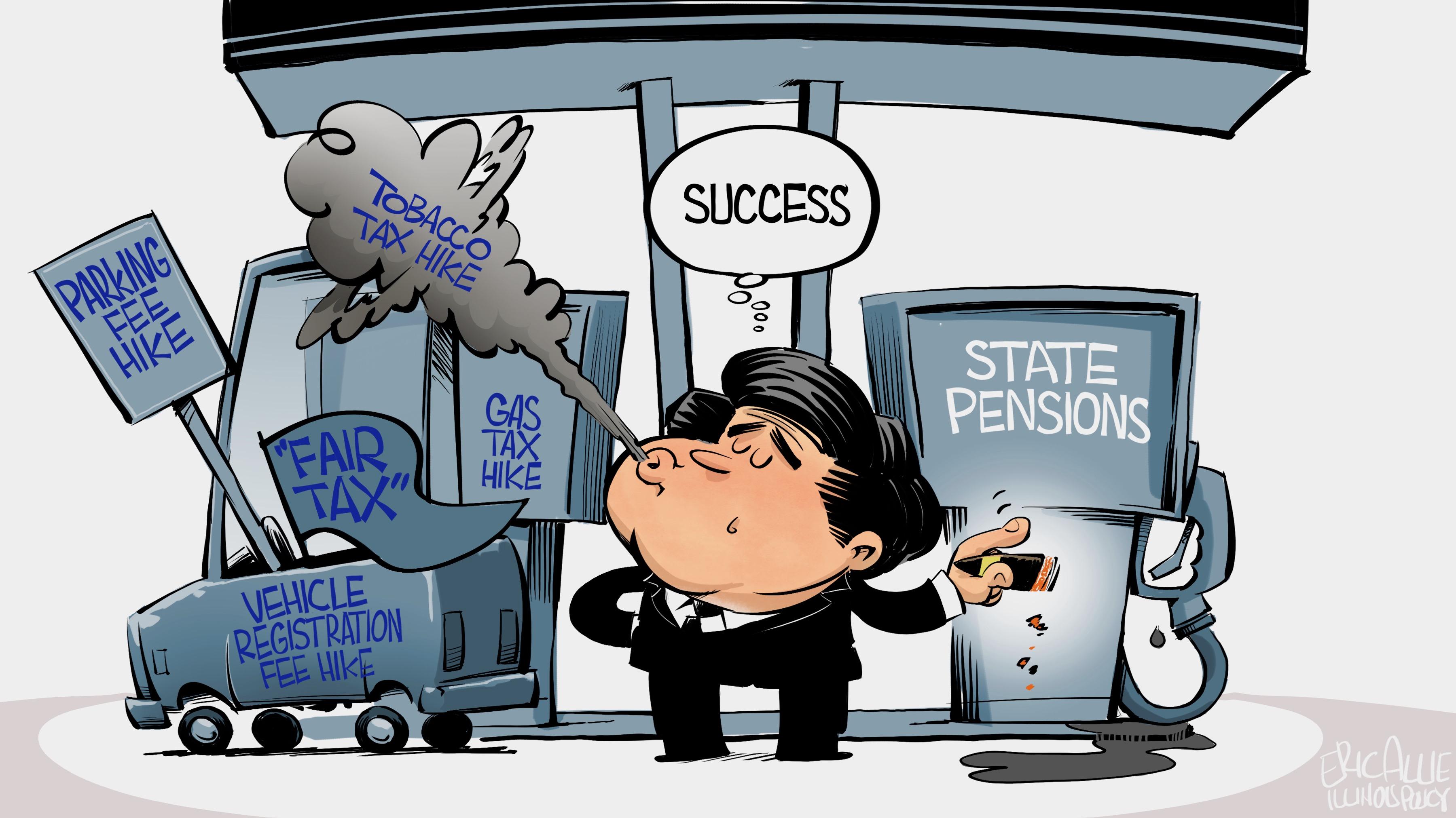 Pritzker's tax hikes: blowing smoke