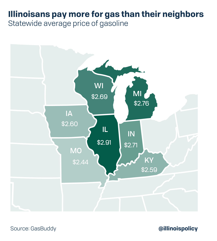 Illinois gas tax doubles in time for record holiday traffic on missouri vehicle title, kansas-oklahoma missouri-arkansas map, wisconsin illinois-indiana map, missouri jokes, missouri border states, missouri sites, missouri vehicle registration,