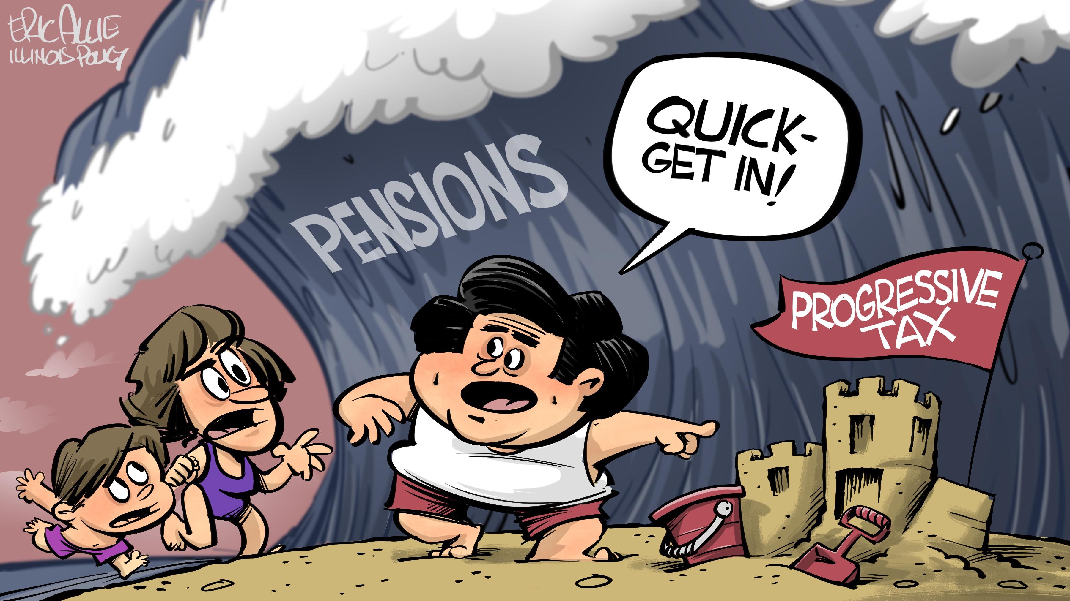 Pension wave crashing down