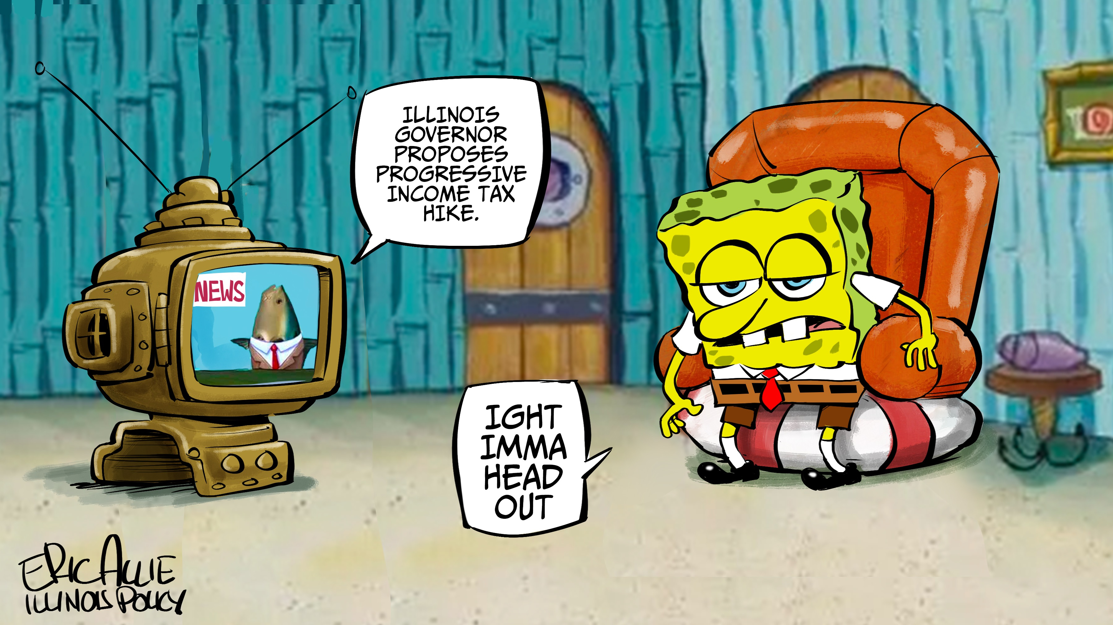Spongebob on progressive tax: Imma head out
