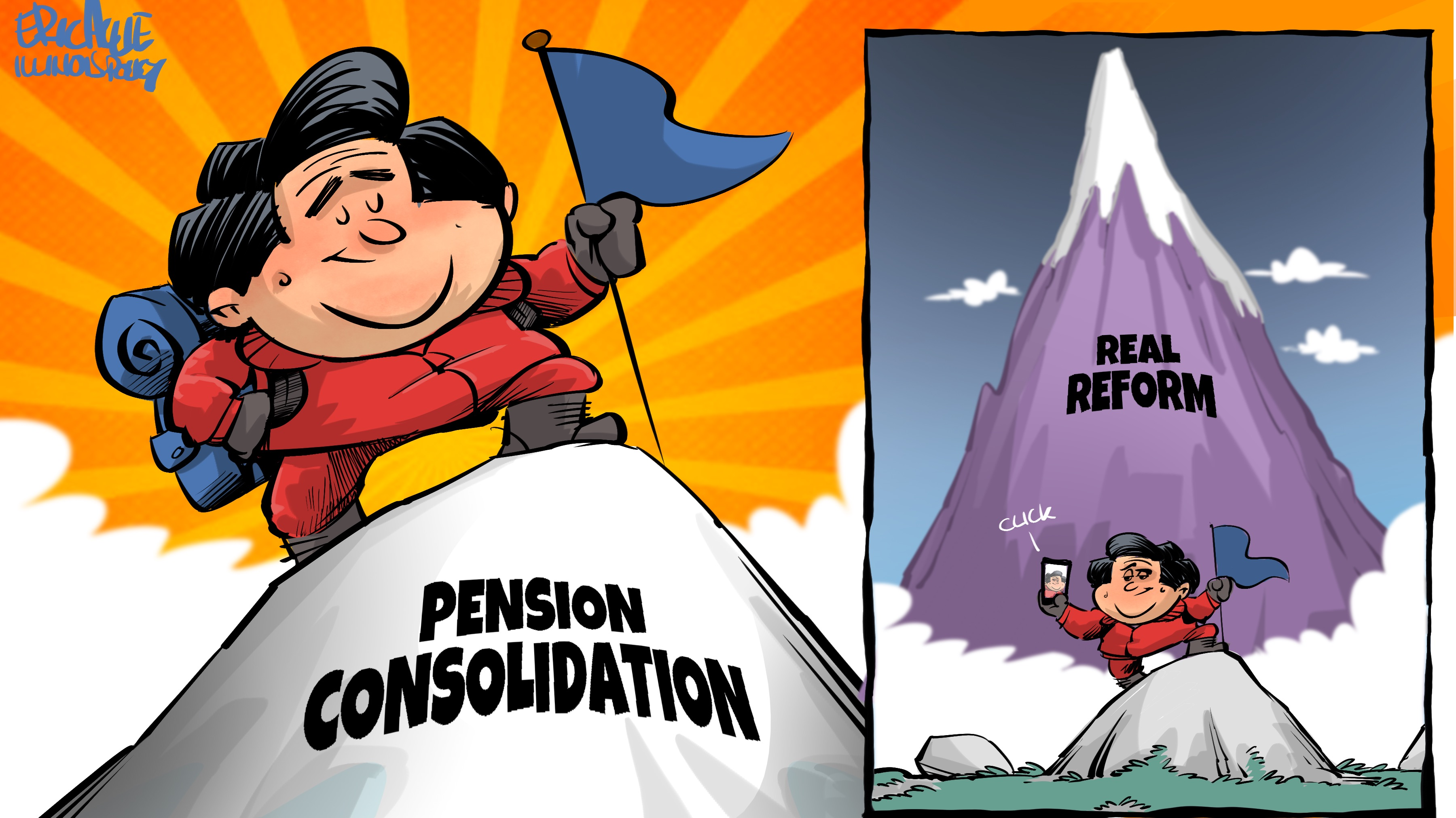 Pritzker's pension consolidation vs. real reform