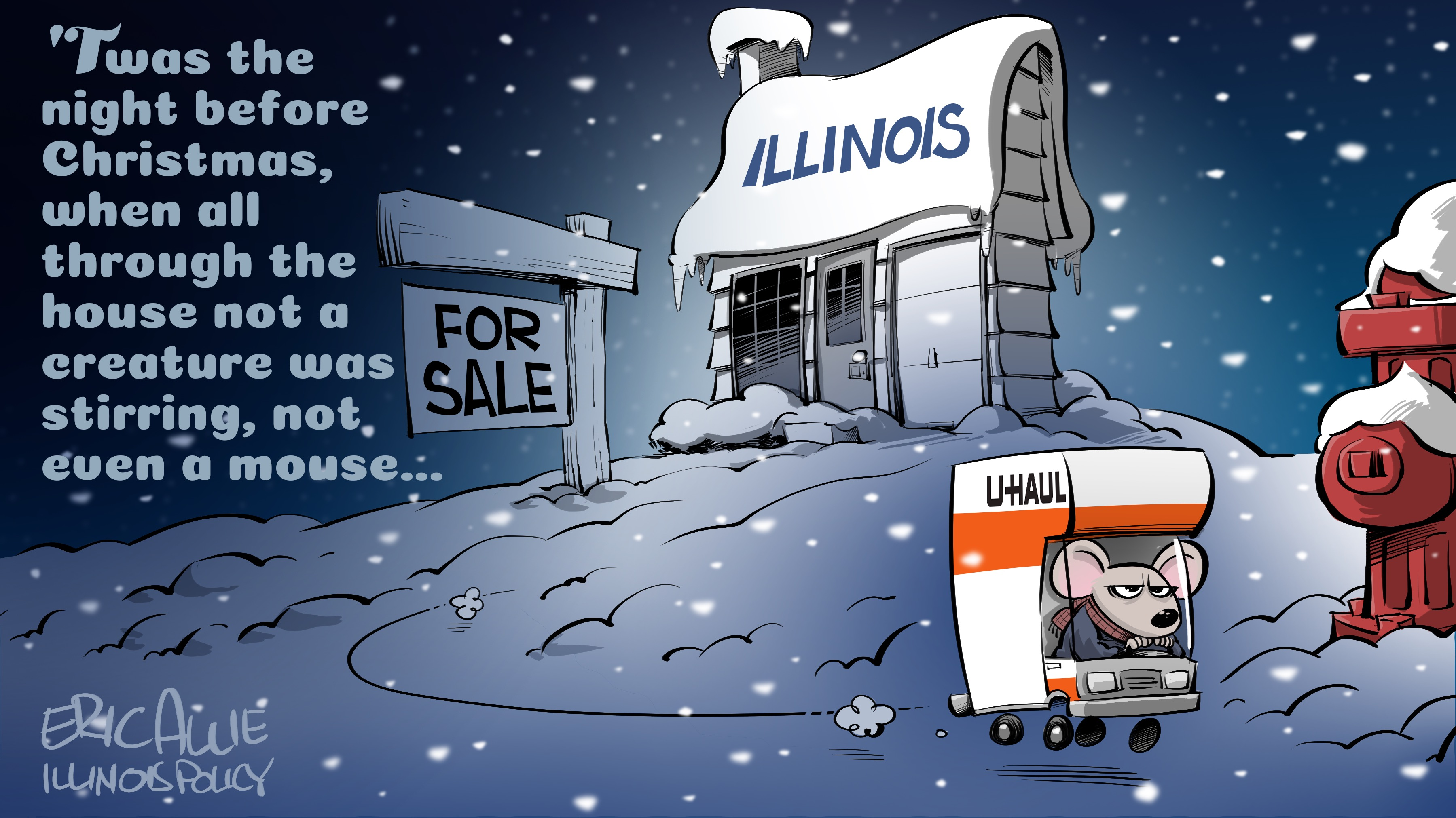Cartoon: Twas the night before Christmas in Illinois